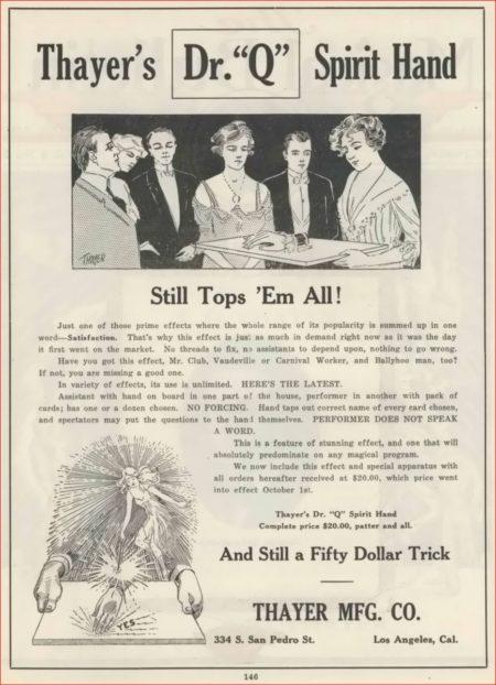 thayer-dr-q-spirit-hand-ad-magical-bulletin-1920-10