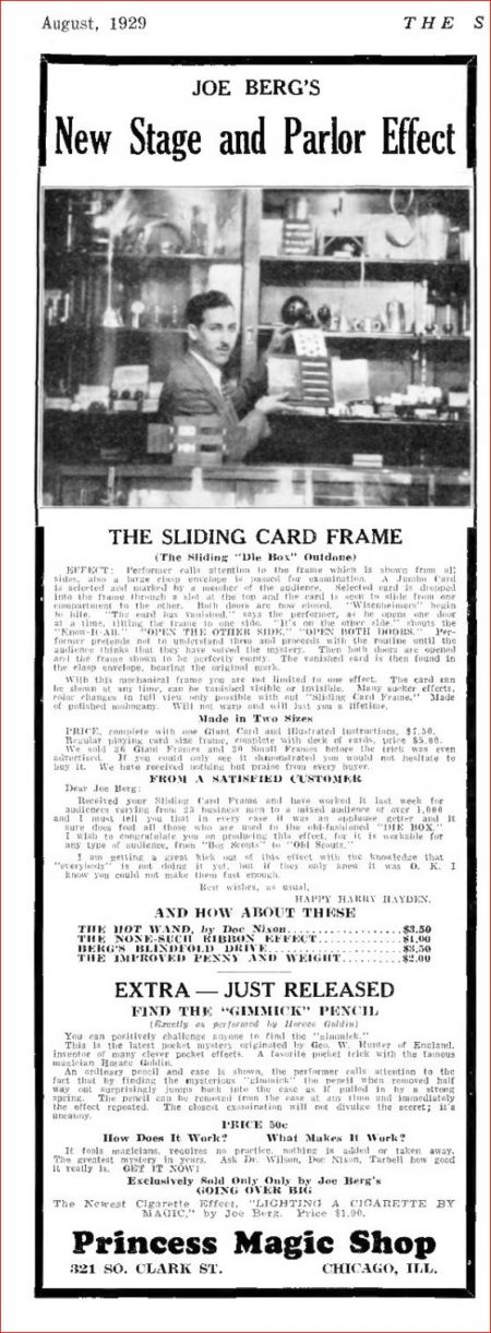 joe-berg-the-sliding-card-frame-ad-sphinx-1929-08
