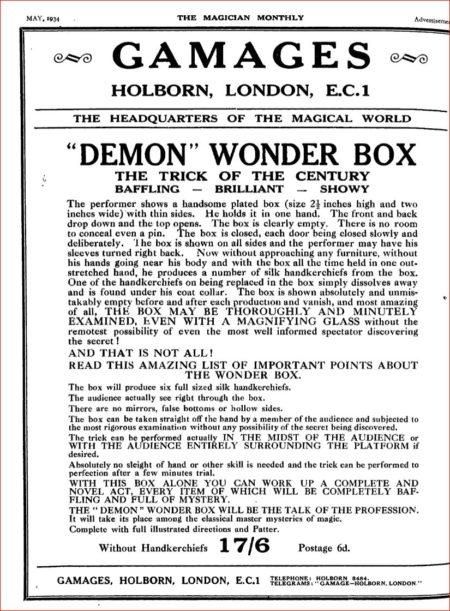 demon-wonder-box-ad-magician-monthly-1934-05