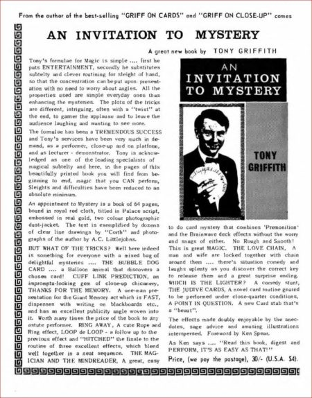 tony-griffith-an-invitation-to-mystery-ad-magigram-1969-07