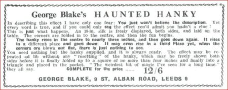 george-blake-haunted-hanky-ad-1962