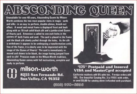 milson-worth-absconding-queen-ad-genii-1983-10