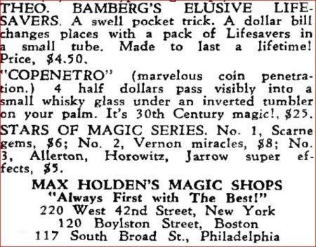 theo-bamberg-okito-elusive-life-savers-ad-hugards-magic-monthly-1947-05