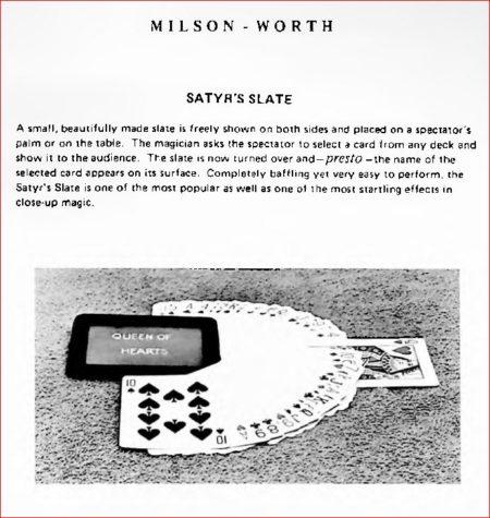 milson-worth-satyrs-slate-ad-milson-worth-catalog-1979