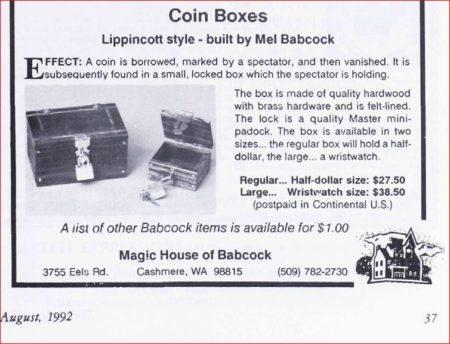 mel-babcock-coin-boxes-linking-ring-1992-08