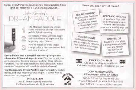 john-kennedy-dream-paddle-ad-magic-1999-12