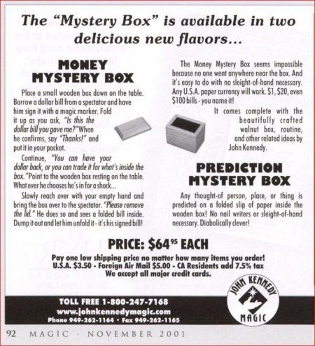 john-kennedy-money-mystery-box-ad-magic-2001-11