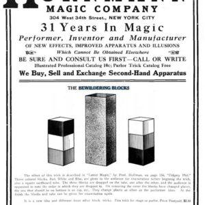 hornman-magic-company-bewildering-blocks-ad-1919