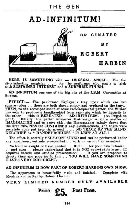 robert-harbin-ad-infinitum-ad-1947