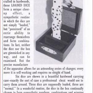 alan-wakeling-loaded-dice-ad-magic-1994-07