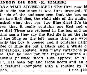 himber-rainbow-die-box-ad-hugards-magic-monthly-1956-02