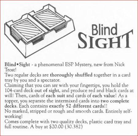 nick-trost-blind-sight-ad-hank-lee-catalog-10-1995