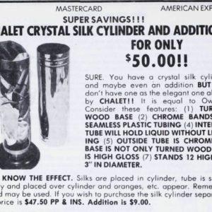 chalet-crystal-sikl-cylinder-ad-1982