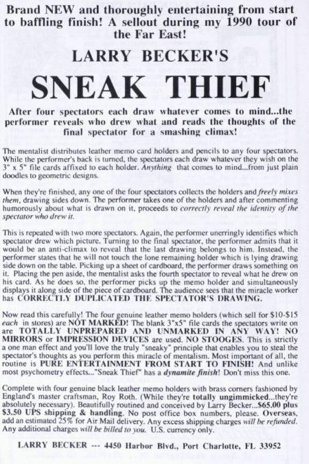 larry-becker-sneak-thief-ad-1990