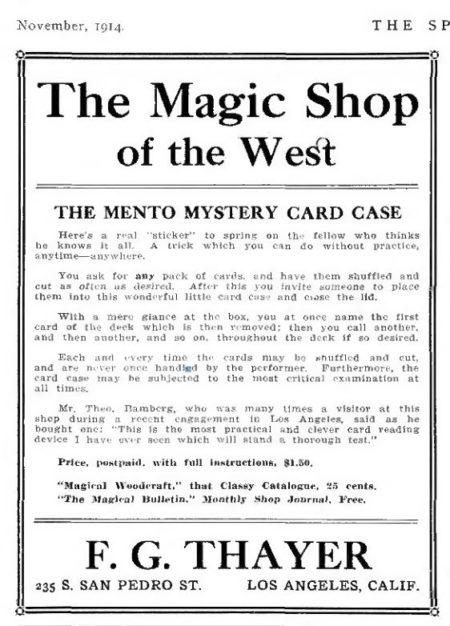 thayer-mento-mystery-ad-1914