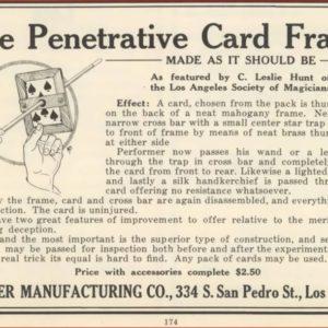 thayer-penetrative-card-frame-ad-magical-bulletin-1923-06