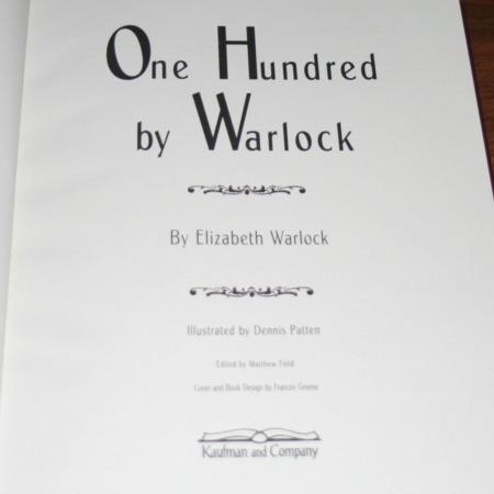 One Hundred by Warlock by Elizabeth Warlock