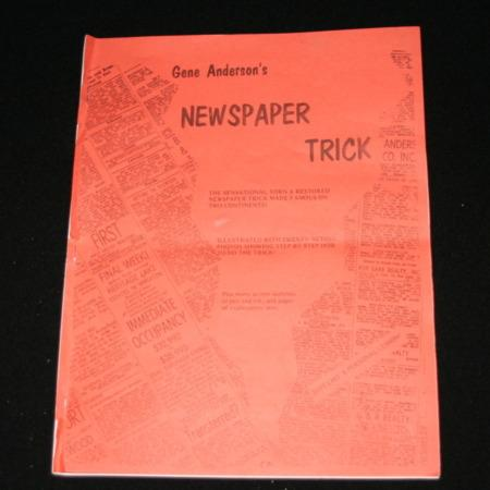 Gene Anderson's Newspaper Trick by Magic Inc.