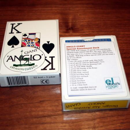 Anglo Giant Cards (Gaffed) by El Duco's Magic
