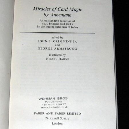 Miracles of Card Magic by T. Annemann
