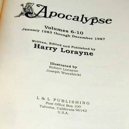 Apocalypse: Vols: 6-10 by Harry Lorayne