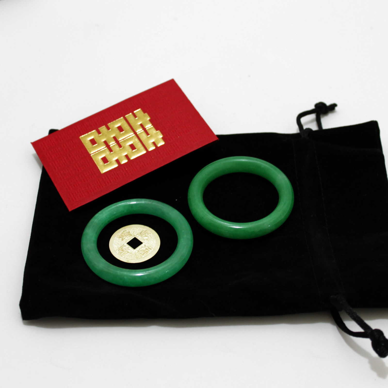 Baby Jade Rings and Coin Set by Alan Wong