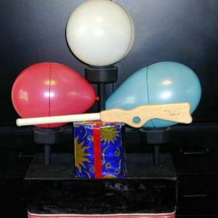 Shoot Till You Win (Balloon Table) by Remote Control Magic