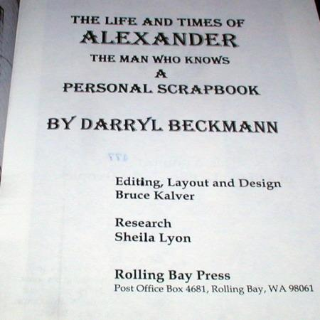 Life and Times of Alexandar by Darryl Beckmann