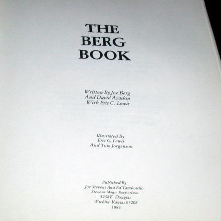 Berg Book, The by Joe Berg, David Avadon, Eric Lewis