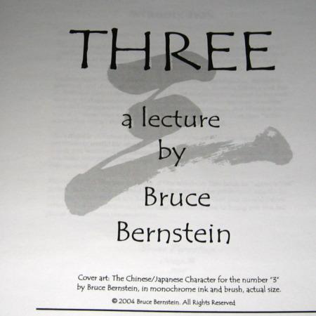 Three by Bruce Bernstein