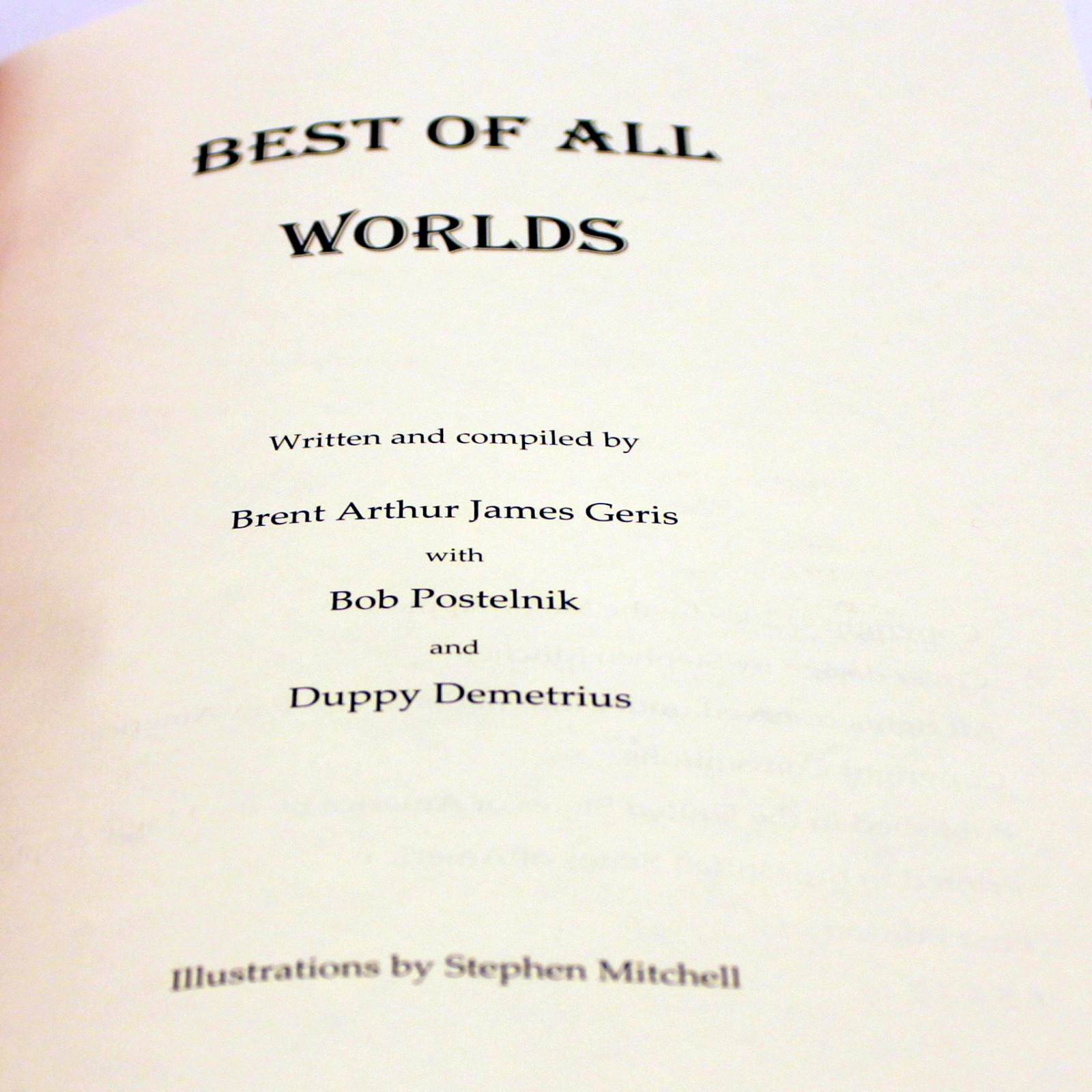 Best of All Worlds by Brent Geris et al