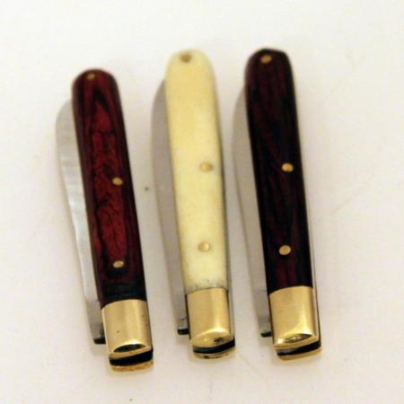 Bone And Roserwood Knives by Joe Mogar
