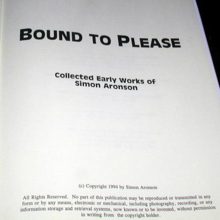 Bound To Please by Simon Aronson