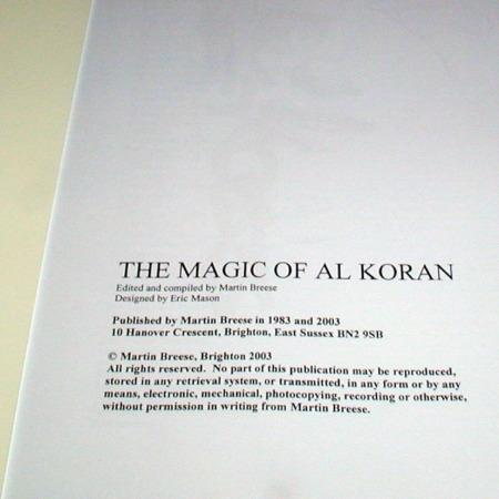 Magic of Al Koran, The by Martin Breese