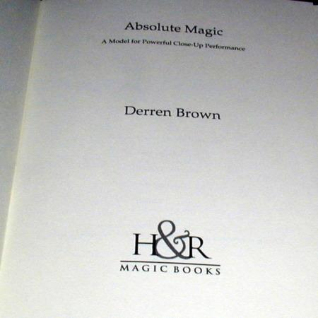 Absolute Magic by Derren Brown
