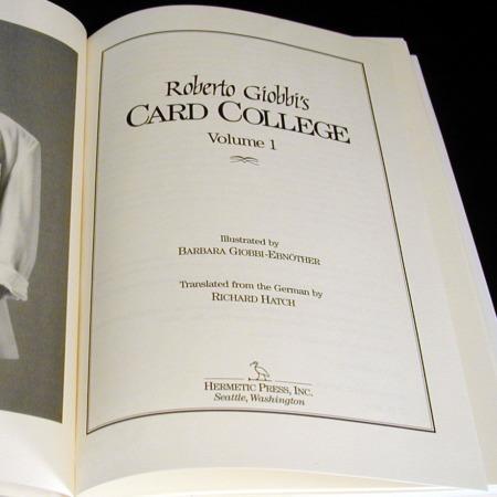 Card College - Vol. 1 by Roberto Giobbi