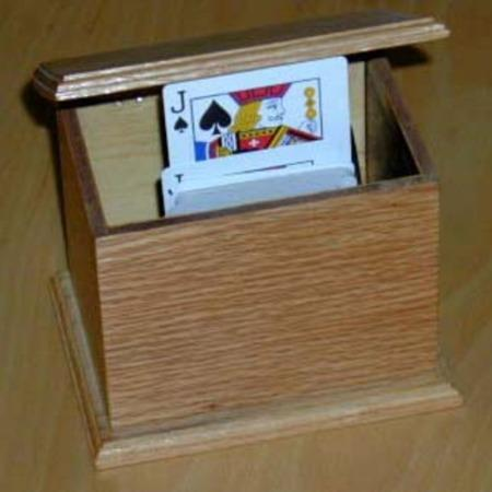 Card Rise Box (Oak) by Nick de Palma