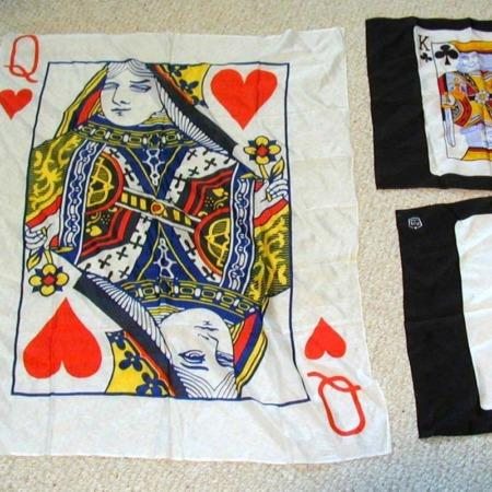 Silk - 28 x 36: Queen of Hearts by Unknown