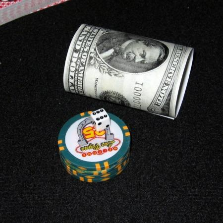 Casino Chips, Dice + Cylinder by Tabman