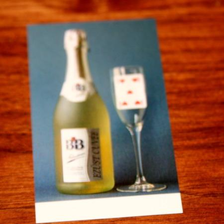 Champagne Card by Astor