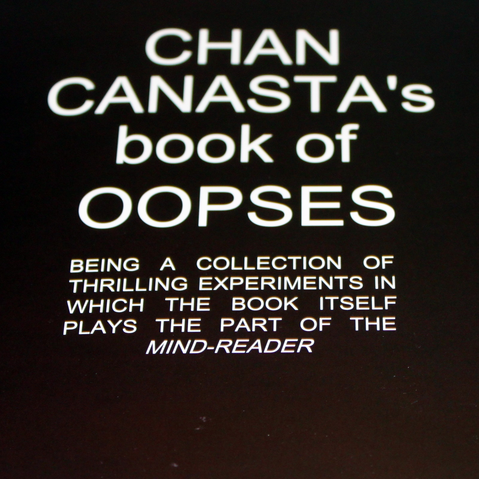 Chan Canasta's Book of Oopses by Chan Canasta