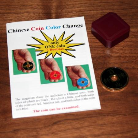 Chinese Color Change Coin by Joker Magic