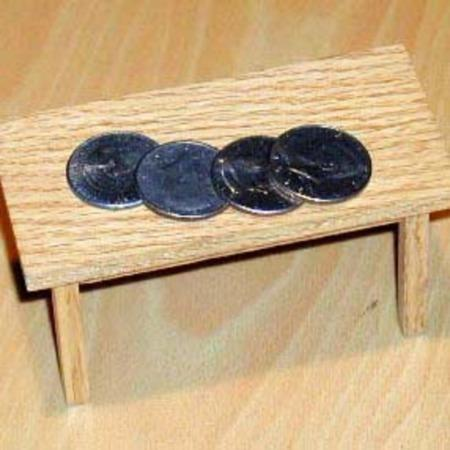 Coin Table in Oak by Kent Tillinghast