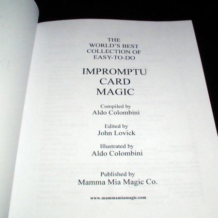 Impromptu Card Magic by Aldo Colombini