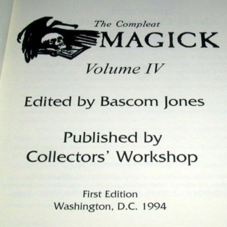 Compleat Magick Vol. 4 by Bascom Jones