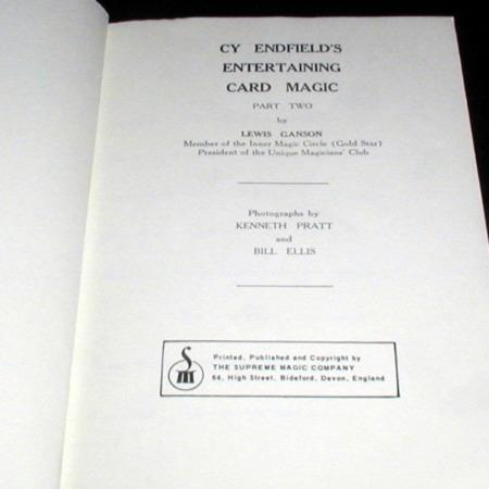 Cy Endfield's Entertaining Card Magic 2 by Lewis Ganson