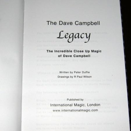 Dave Campbell Legacy, The by Peter Duffie