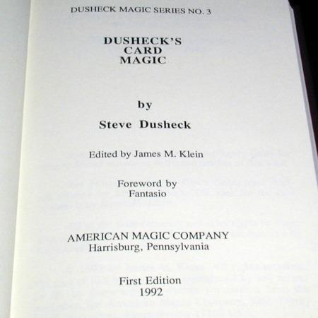Dusheck's Card Magic by Steve Dusheck