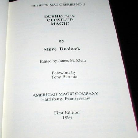 Dusheck's Close-up Magic by Steve Dusheck