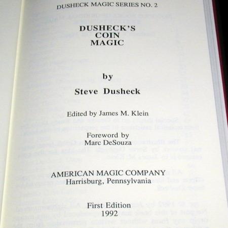 Dusheck's Coin Magic by Steve Dusheck
